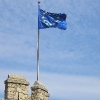 European Union flag, in a tower of Manzanares el Real Castle, Madrid